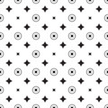 Star geometric pattern. Seamless vector Royalty Free Stock Photo