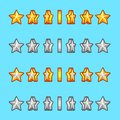 Star gold silver rotation set sprite game graphics Stock Images