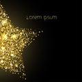 Star of golden sparkles Vector illustration