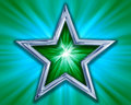 Star on green background Royalty Free Stock Images