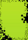 Star green background frame Royalty Free Stock Image
