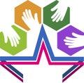 Star hands logo Royalty Free Stock Photo