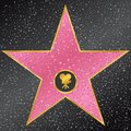 Star. Hollywood Walk of Fame Royalty Free Stock Photo