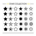 Star Icon Collection Vector Royalty Free Stock Photo