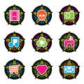 Star icons Royalty Free Stock Photography