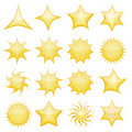 Star icons Stock Image