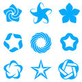 Star icons set. Royalty Free Stock Images