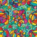 Star Inside Flower Bud Seamles...