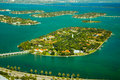 Star island in miami the ocean dade county florida usa Stock Image