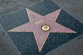 The star of kiss on walk fame on hollywood blvd los angeles california Stock Photos