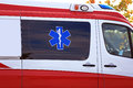 Star of Life Medical Symbol on Ambulance Royalty Free Stock Photo