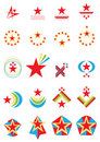 Star Logo Set_eps Stock Photo