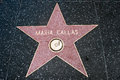 The star of maria callas on walk fame on hollywood blvd los angeles california Royalty Free Stock Image