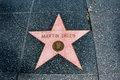 The star of martin sheen on walk fame on hollywood blvd los angeles california Royalty Free Stock Photos