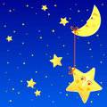 Star and Moon Stock Photography