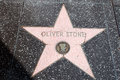 The star of oliver stone on walk fame on hollywood blvd los angeles california Stock Photos