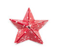 Star origami for christmas isolated on white Stock Photo