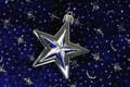 Star ornament on blue sky Royalty Free Stock Photography