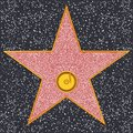 Star phonograph record hollywood walk of fame representing audio recording or music Royalty Free Stock Photography