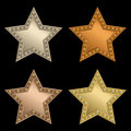 Star plaque Royalty Free Stock Photography