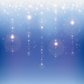 Star rain on a blue abstract background Royalty Free Stock Photo