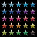 Star rainbow black Royalty Free Stock Photo