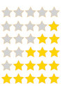 Star of rating Stock Images