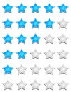 Star rating chart illustration of isolated on a white background Royalty Free Stock Images