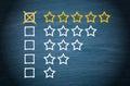 Star rating check boxes Royalty Free Stock Photo