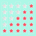 Star rating design vintage Royalty Free Stock Photos