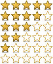 Star rating gold done in d Stock Photos