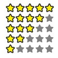 5 star rating. Vector icon for web and your other design