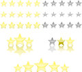 Star ratings Royalty Free Stock Photography