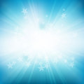 Star rays background vector blue of stars and eps file with transparencies Royalty Free Stock Photography