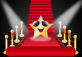 Star on Red carpet Royalty Free Stock Photo