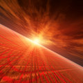 Star Red Horizon Royalty Free Stock Images