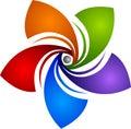 Star rotation logo Royalty Free Stock Photo