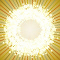 Star round frame on a retro background. Royalty Free Stock Photos