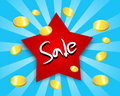 Star sale illustration Royalty Free Stock Photo
