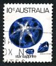 Star Sapphire Australian Postage Stamp
