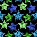 Star seamless pattern Royalty Free Stock Photo