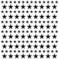 Star seamless pattern. White and black retro background. Chaotic elements. Abstract geometric shape texture. Effect of