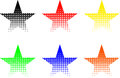 Star set, stars of different colors Royalty Free Stock Photo