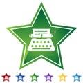 Star Set - Typewriter Royalty Free Stock Photo
