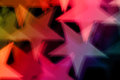 Star shape abstract background colorful stars shiny shapes blur holiday Royalty Free Stock Images