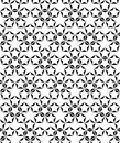 Star shape. black and white background. vector seamless pattern