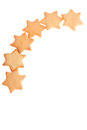 Star shape homemade cookies Stock Photography