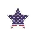 Star shape icon. USA design. Vector graphic
