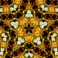 Star-shape kaleidoscope Royalty Free Stock Photo