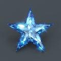 Star shape sapphire blue glare Royalty Free Stock Photo